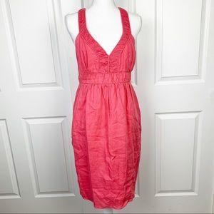 Banana Republic Pink Cross Back Linen Dress